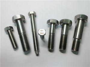 No.25-Incoloy a286 hex bolter 1.4980 a286 festemidler gh2132 rustfritt stål maskinvare maskin skruefester