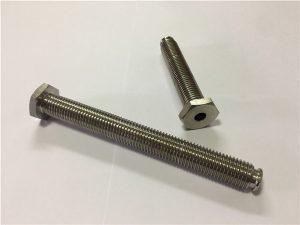 No.64-Hollow Titanium Fastener with Through Hole Titanium legering 6Al4V Oppvaskhode med unbrakonøkkel