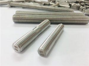 tilpassede automatisk maskinert rustfritt stål festemidler dobbel ende gjengestang