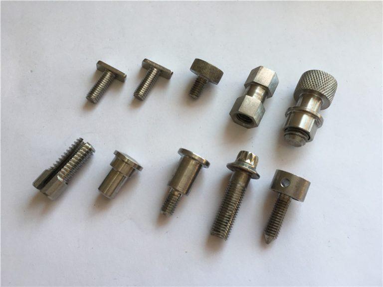 tilpasset høy-presisjons ikke-standard skrue, rustfritt stål cnc bearbeidingsskrue
